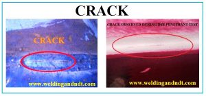 Crack With Dpt Welding And Ndt