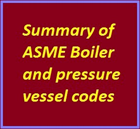 ASME Codes and Standards – A summary