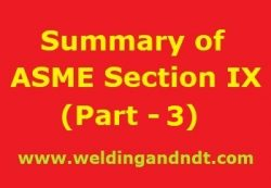 Summary of ASME BPVC Section IX – Part 2