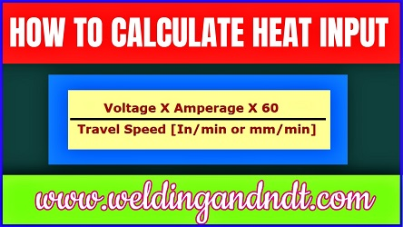 How to calculate heat input