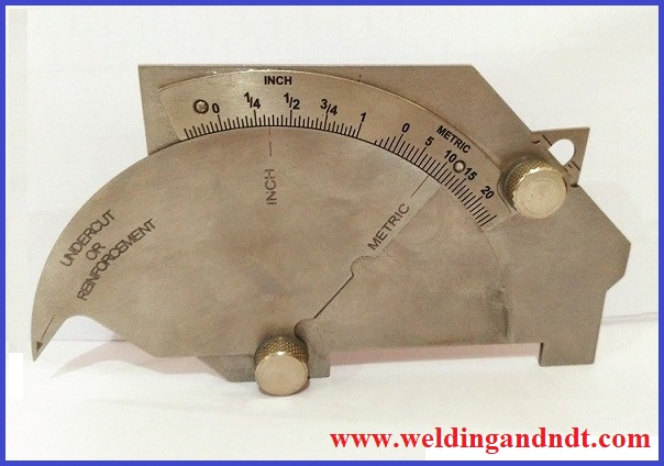 Universal welding gauge (bridge cam gauge)